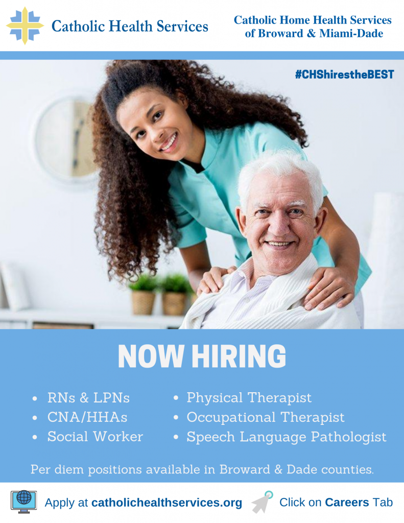 Home health services hiring flyer