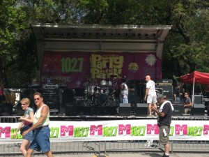Catholic Health Services Love-In Party in the Park 102.7 Set Up Stage