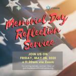 Memorial Day Reflection Service